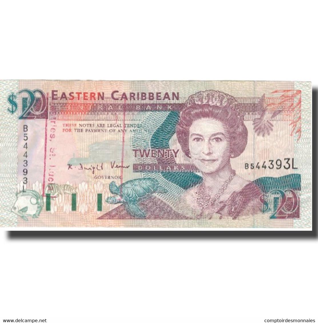 Billet, Etats Des Caraibes Orientales, 20 Dollars, Undated (1993), KM:28l, TTB+ - Caraïbes Orientales