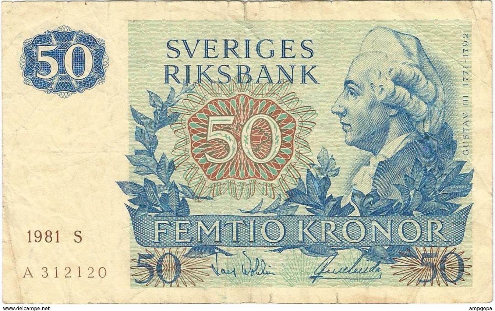 Suecia - Sweden 50 Kronor 1981 Pick 53c Ref 7 - Suède