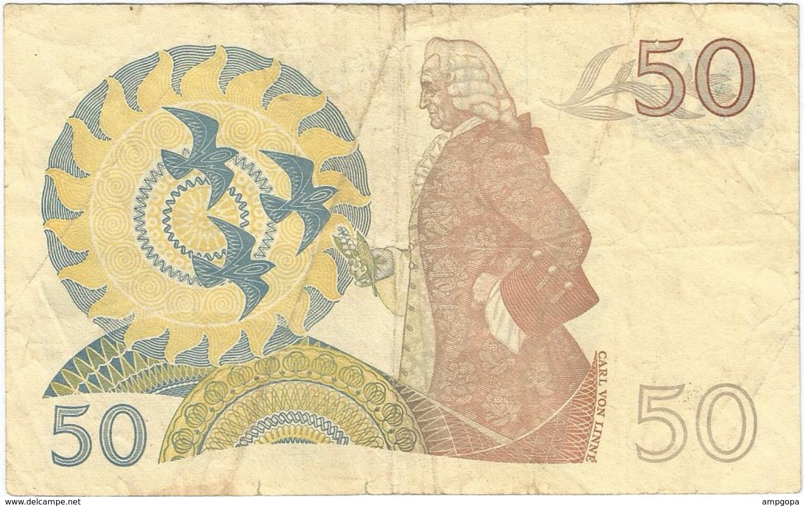 Suecia - Sweden 50 Kronor 1981 Pick 53c Ref 7 - Suecia