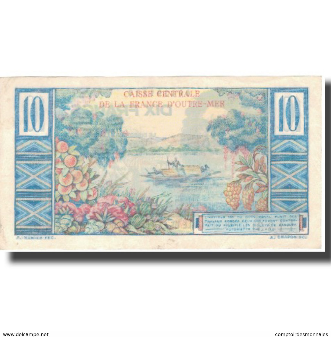 Billet, Afrique-Équatoriale Française, 10 Francs, KM:21, TTB+ - Papeete (Polynésie Française 1914-1985)