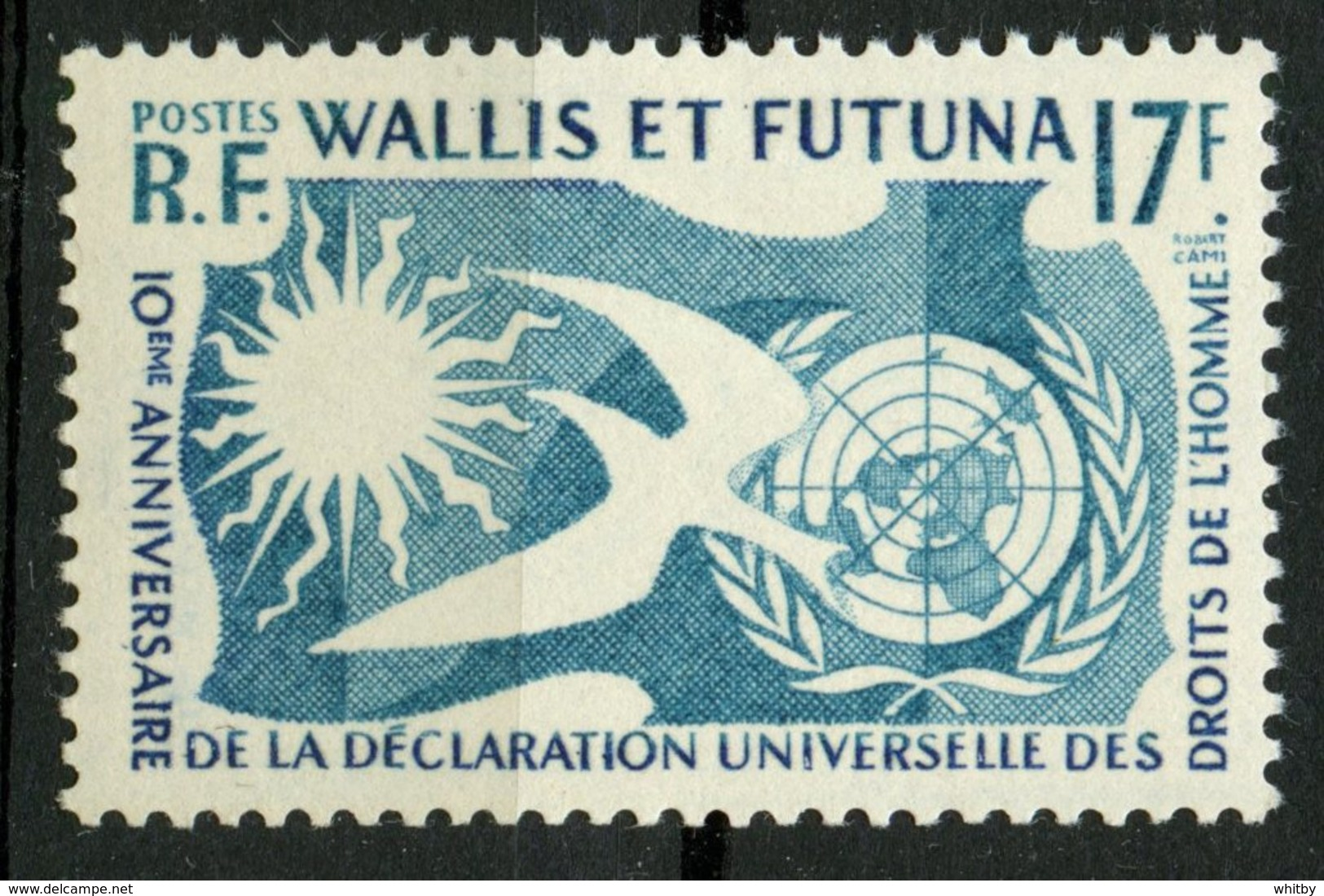 Wallis And Futuna Islands 1958 17f Human Rights Issue #153   MNH - Unused Stamps