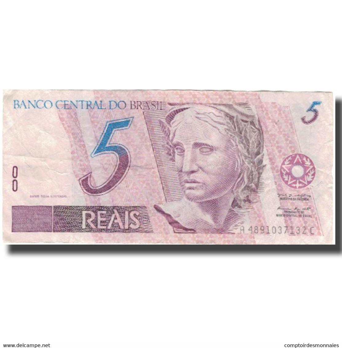 Billet, Brésil, 5 Reais, Undated (1994-97), KM:244e, TTB - Brésil