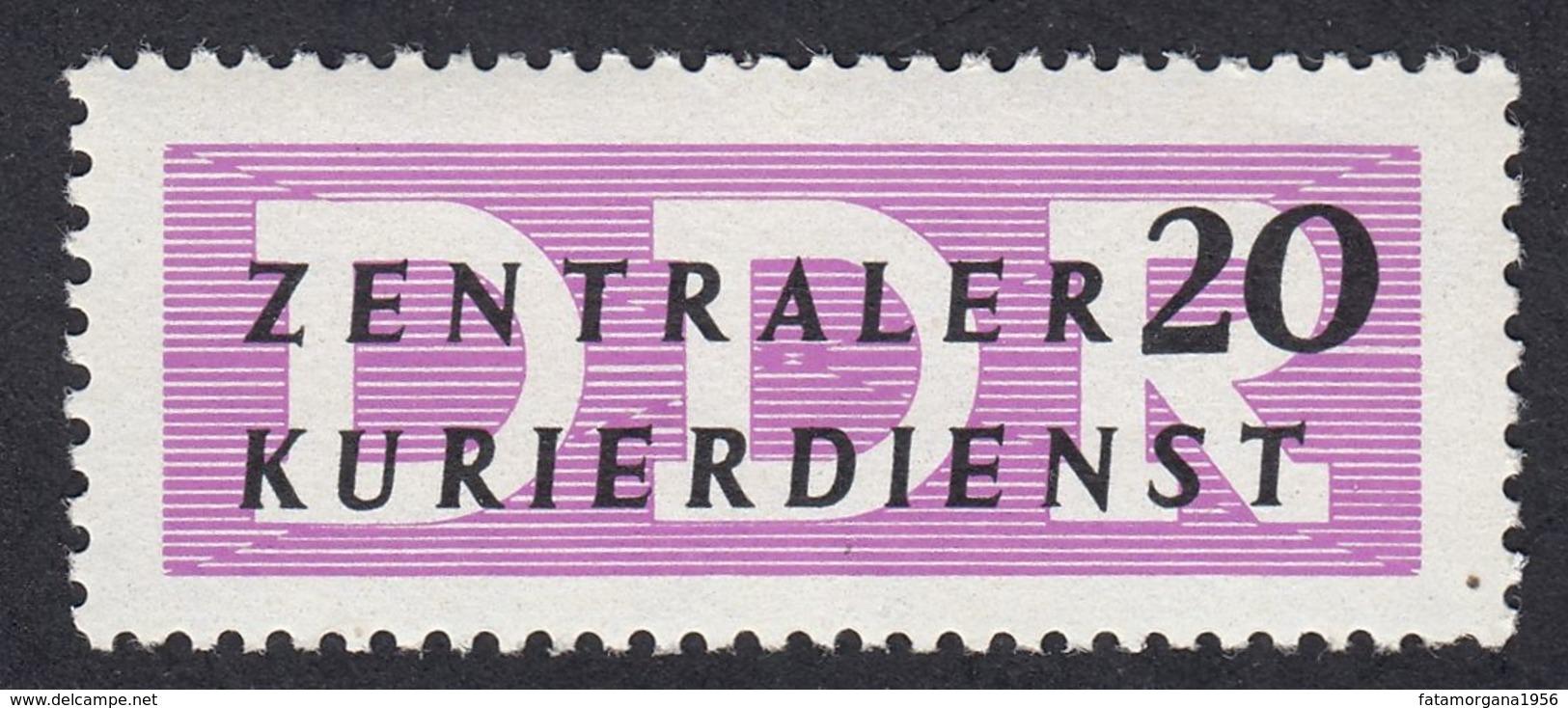 GERMANIA DDR - 1956 - SERVIZIO - Yvert 40 Nuovo MNH, 20 P., Lilla, Testo E Valori In Nero Su Carta Bianca. - Dienstpost