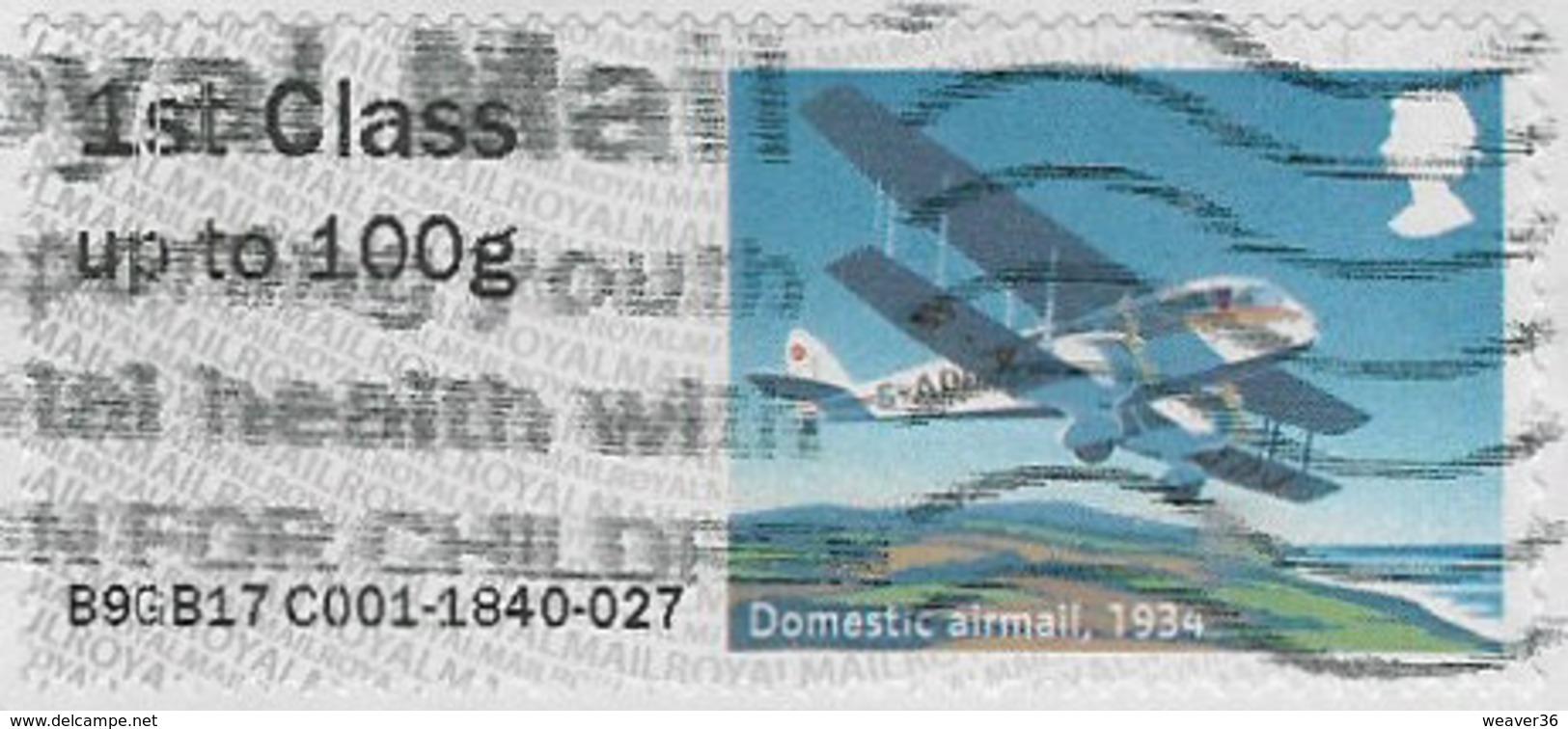 GB 2017 Mail By Air 1st Type 4 Code B9GB17 Used [32/141/ND] - Grande-Bretagne