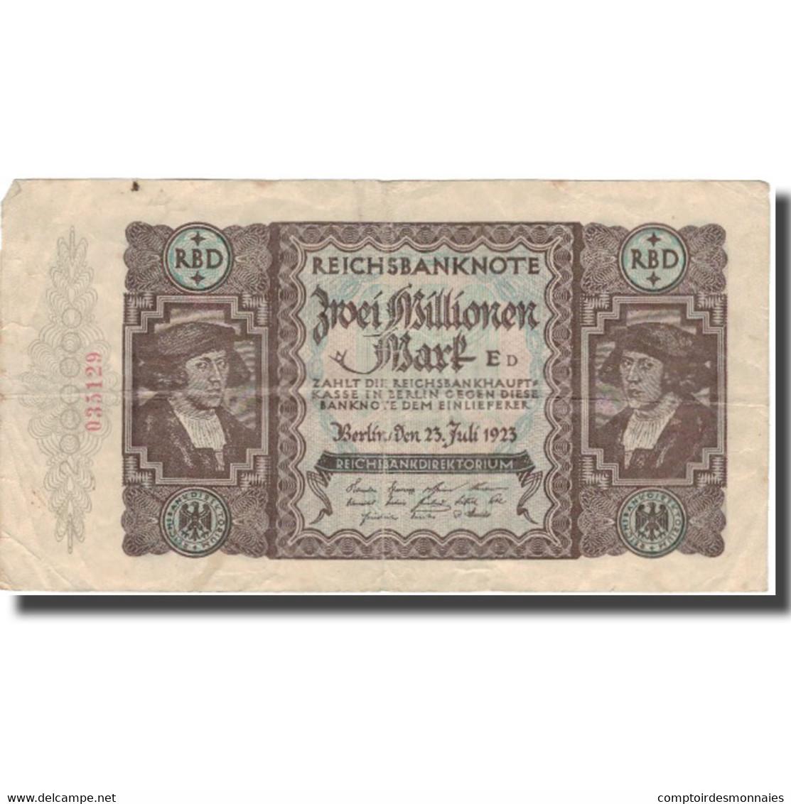 Billet, Allemagne, 2 Millionen Mark, 1923, 1923-07-23, KM:89a, TTB - 2 Millionen Mark