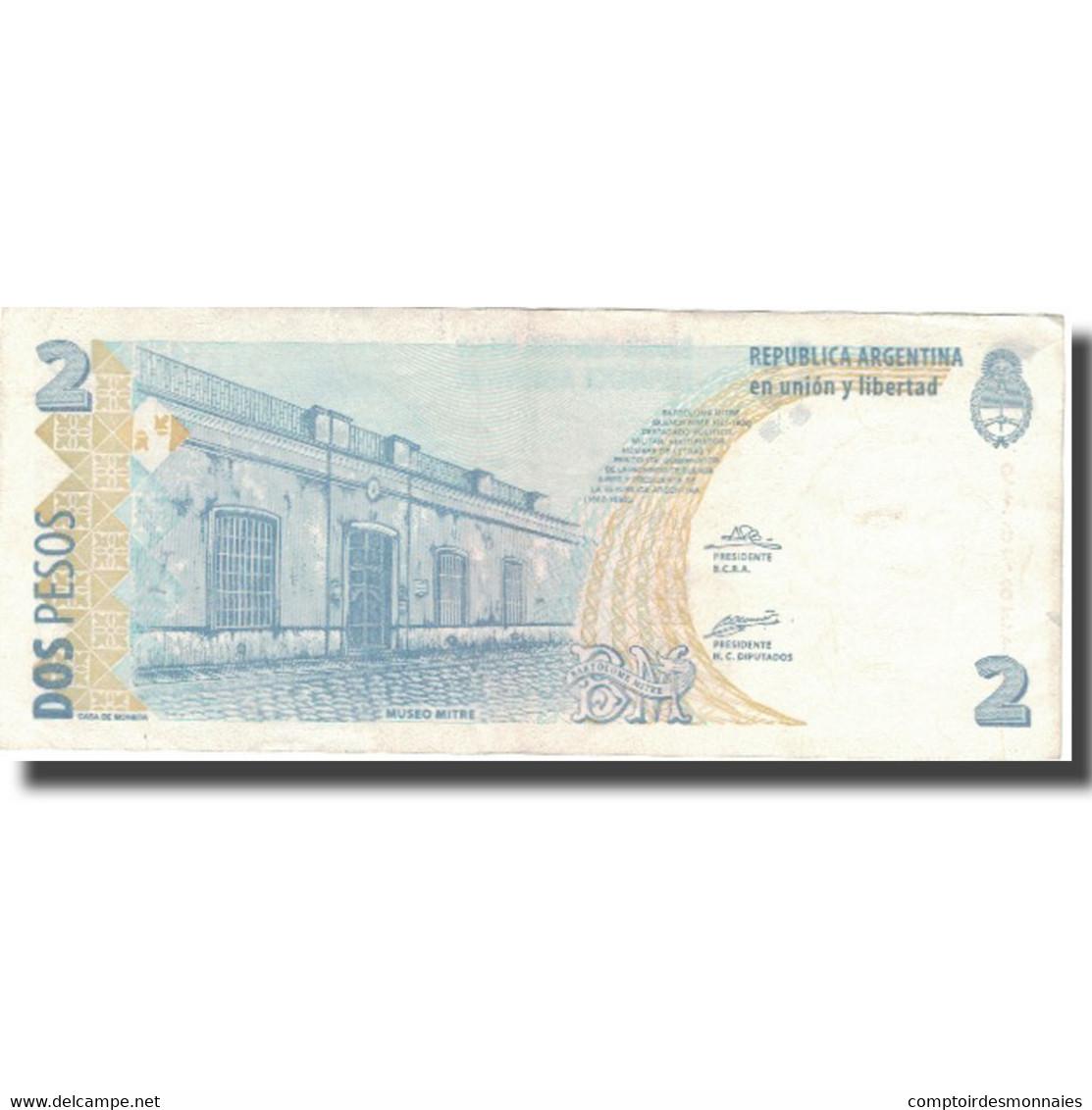 Billet, Argentine, 2 Pesos, Undated (1997-2002), KM:346, TTB+ - Argentine