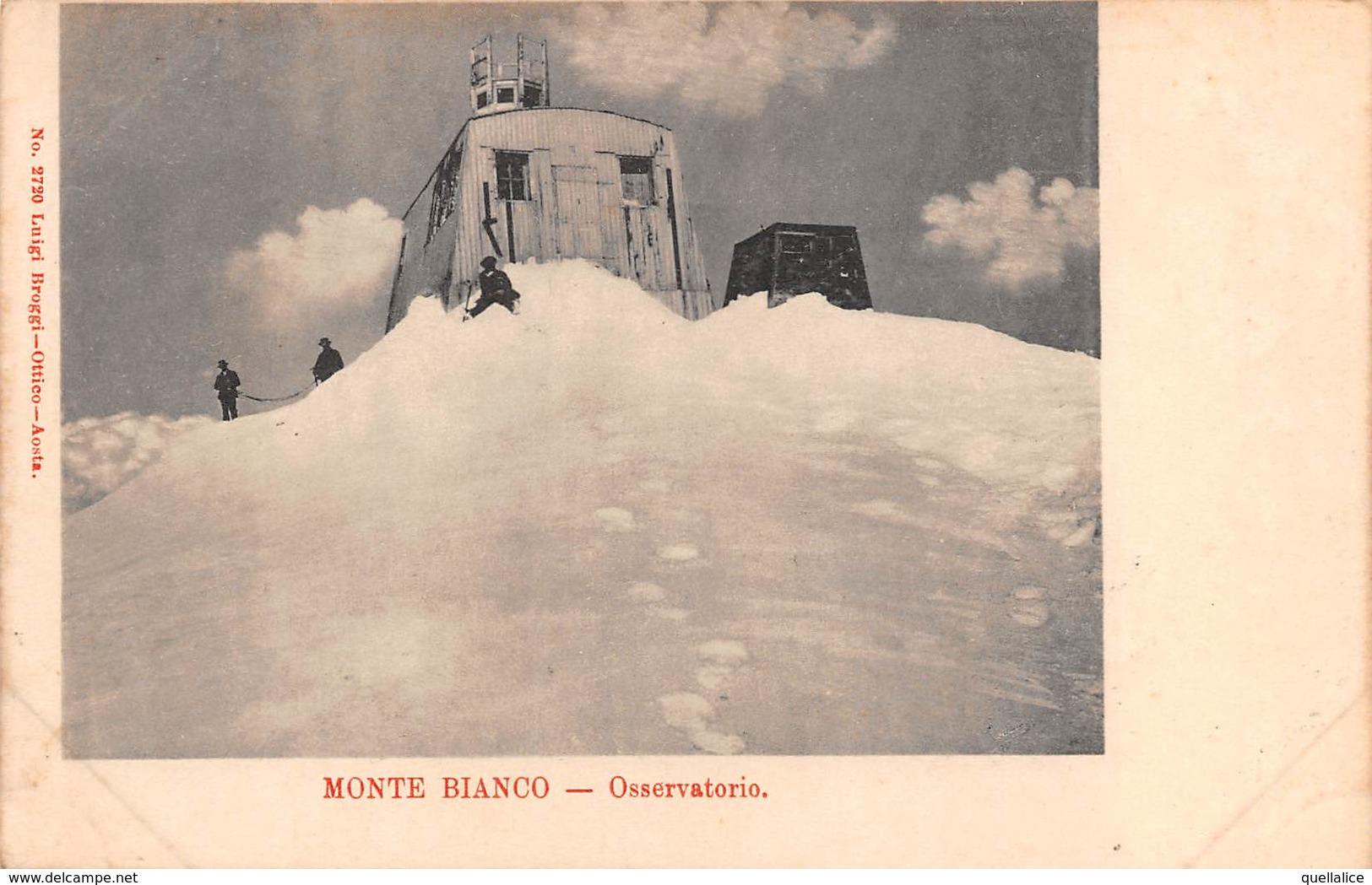 "0773  ""(AO) MONTE BIANCO - OSSERVATORIO"" ANIMATA.  CART  NON SPED - Aosta"