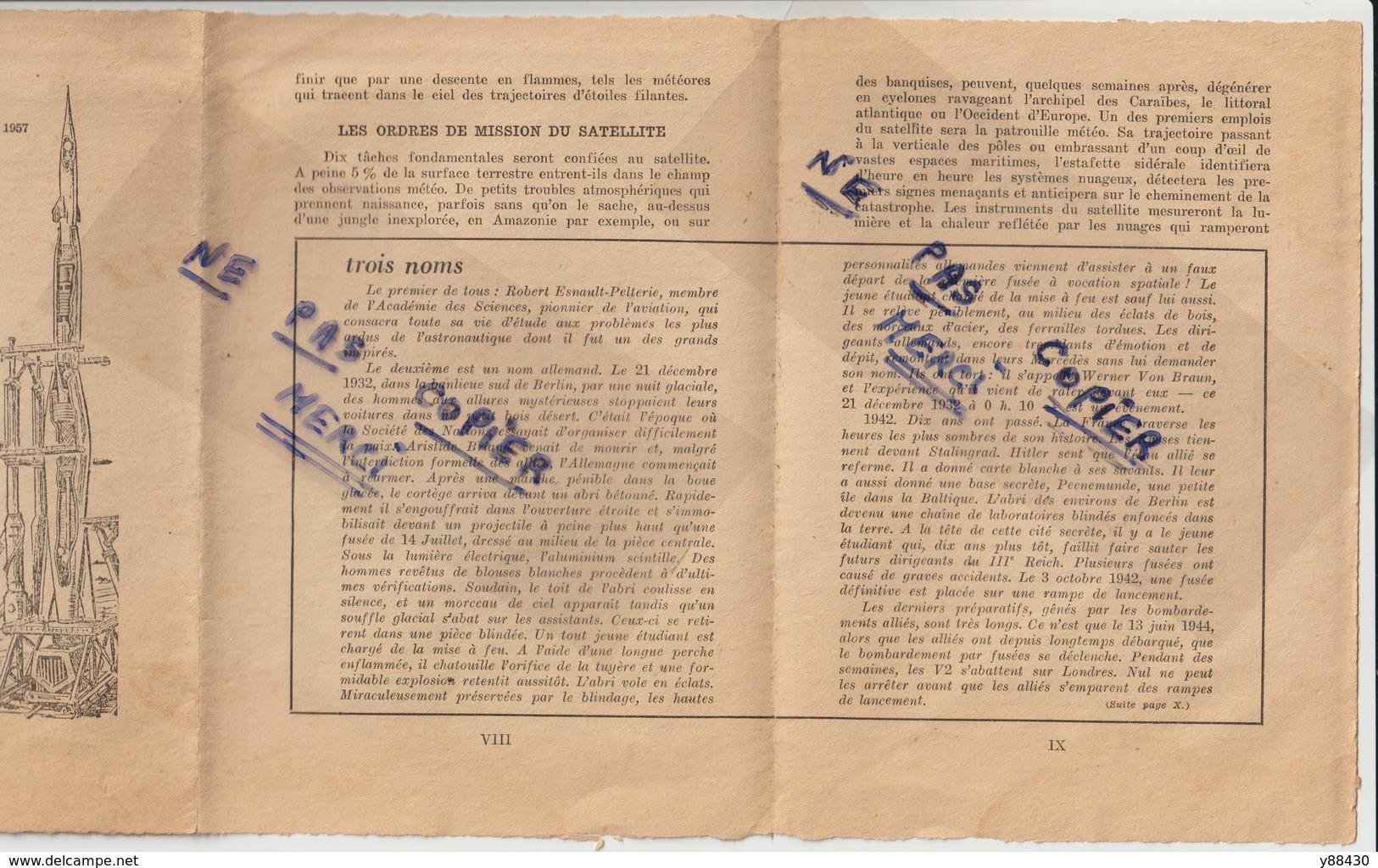 Livret - 1957 - ANNEE ZERO DE L'ERE INTERTERPLANETAIRE - Voir En Couverture SIMCA Voiture Aronde De 58 - 11 Scannes - Sciences & Technique