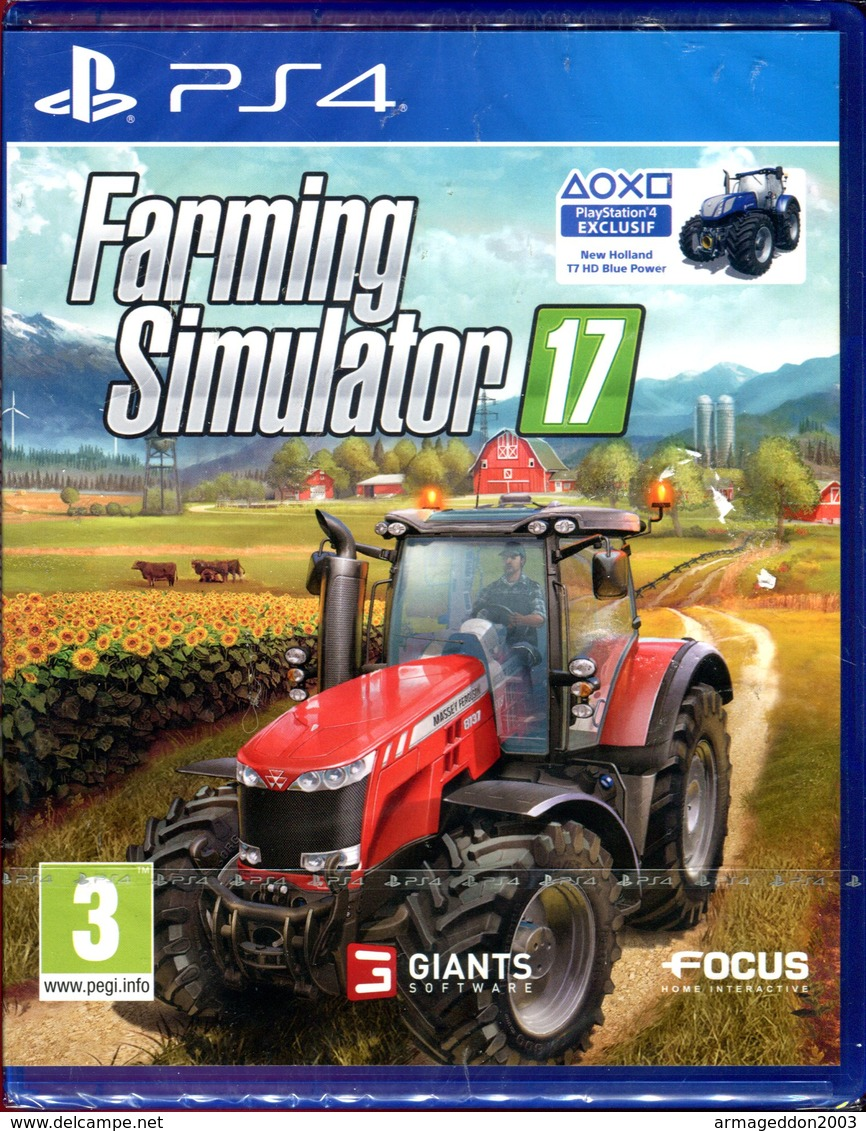 FARMING SIMULATOR 17 SUR PS4 - Neuf Sous Blister / FR - Sony PlayStation