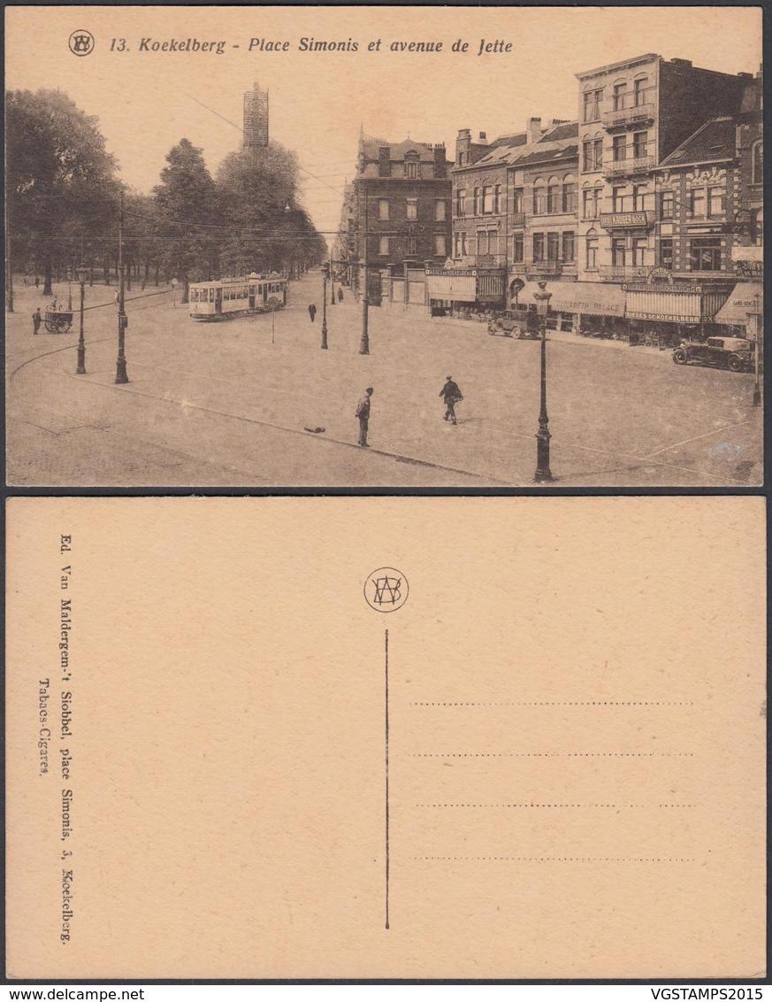 """BELGIQUE CP TRAMWAYS BRUXELLOIS KOEKELBERG """"PLACE SIMONIS """" (DD) DC-1418 - Autres"""
