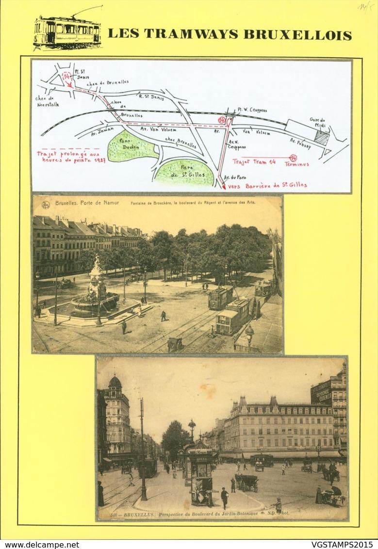 """BELGIQUE CP TRAMWAYS BRUXELLOIS """"PORTE DE NAMUR"""" + DESCRIPTIF (DD) DC-1432 - Belgique"""