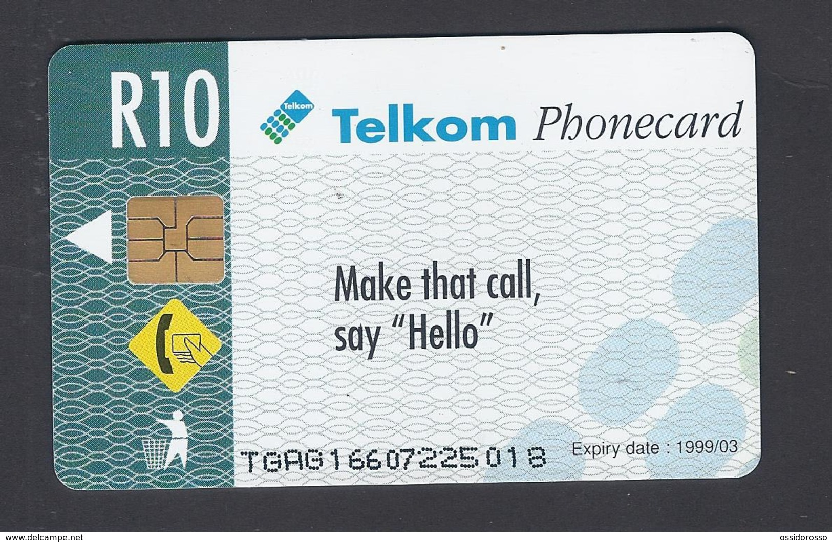 SOUTH AFRICA - Say Hello - Telkom Phonecard,  1999/03 - Used - Sudafrica