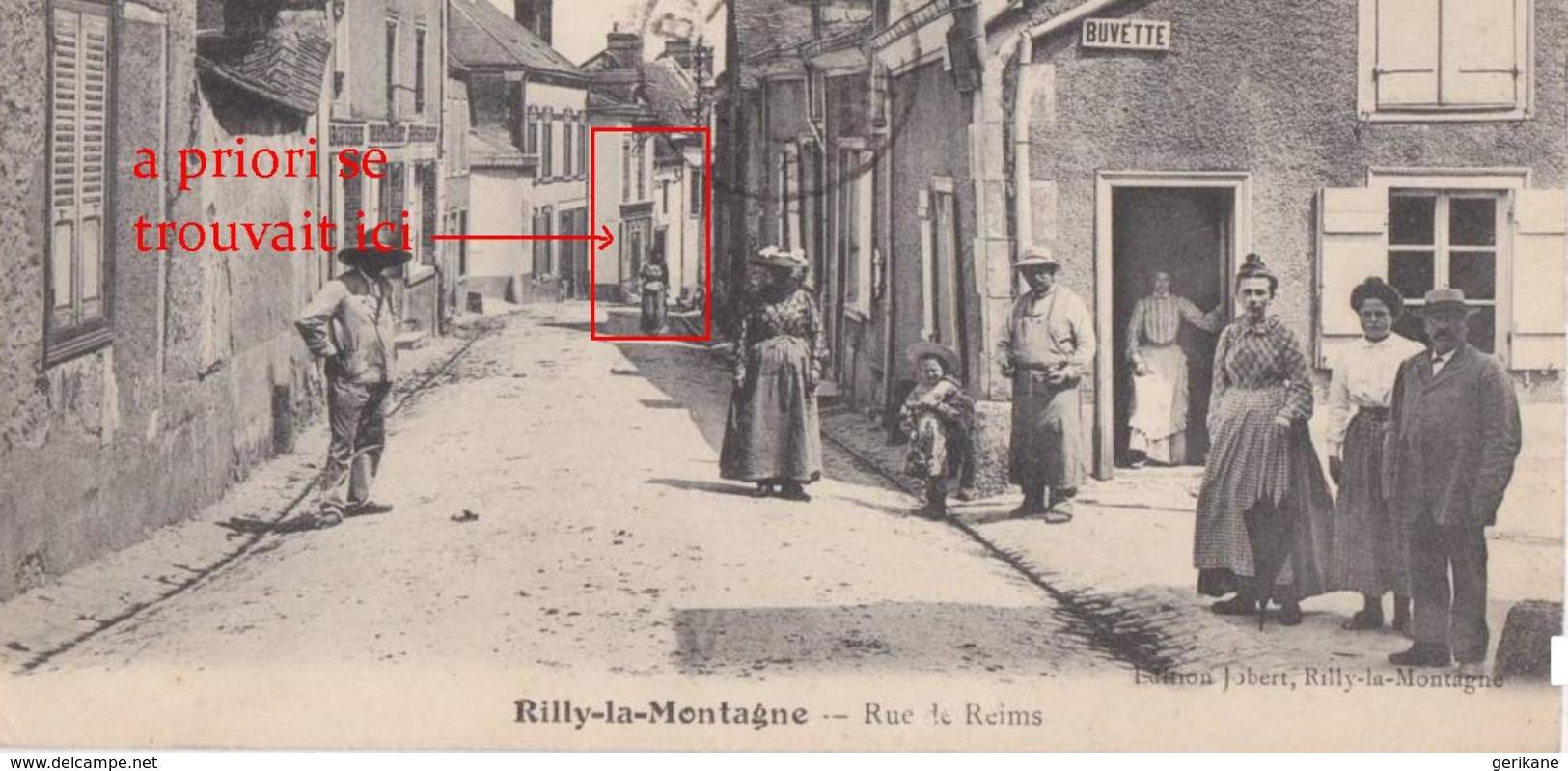 RILLY LA MONTAGNE - TRES RARE CARTE PHOTO Devanture De Commerce Rue De Reims - Voir Scans - Rilly-la-Montagne