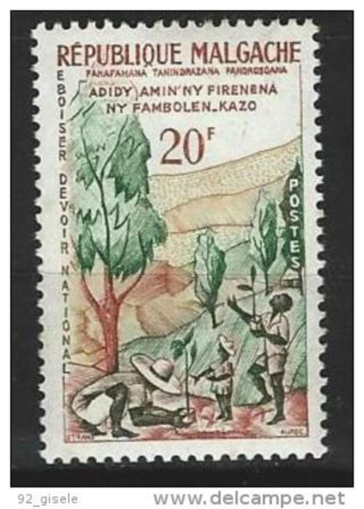 """Madagascar YT 351 """" Semaine De L'arbre """" 1960 Neuf** - Madagascar (1960-...)"""
