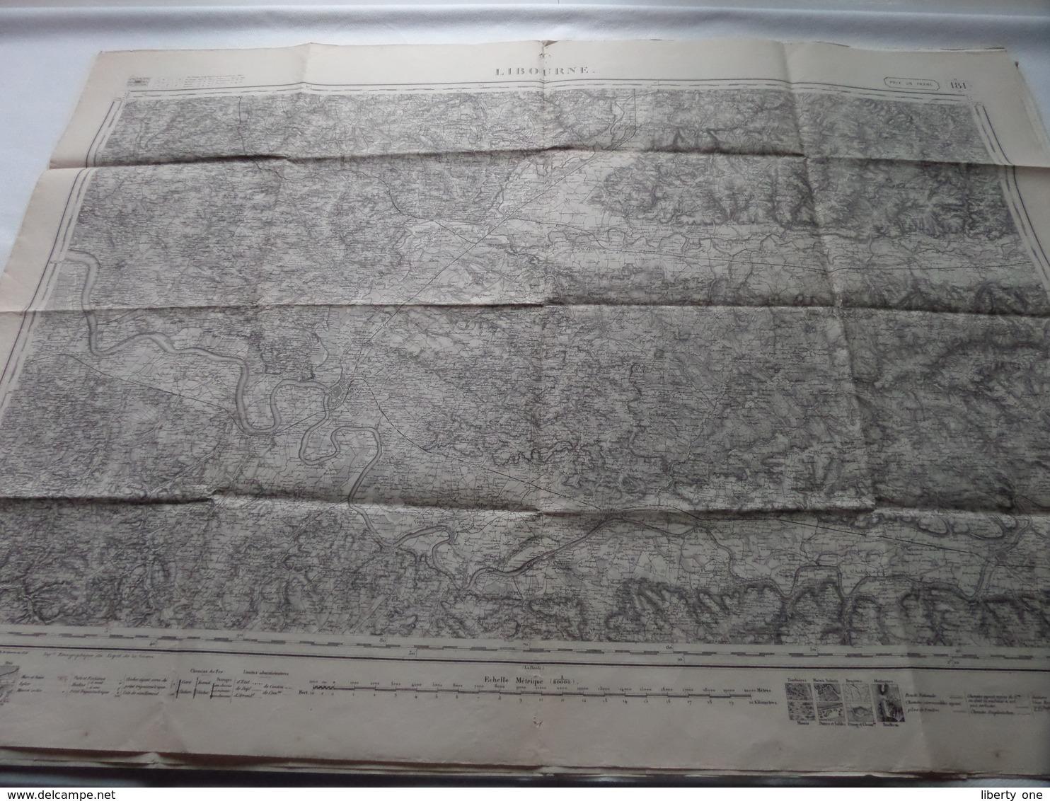 LIBOURNE ( 181 ) Schaal / Echelle / Scale 1: 80.000 ( Rousset / Hacq / Delsot ) - ( Voir / Zie Photo) - Geographical Maps