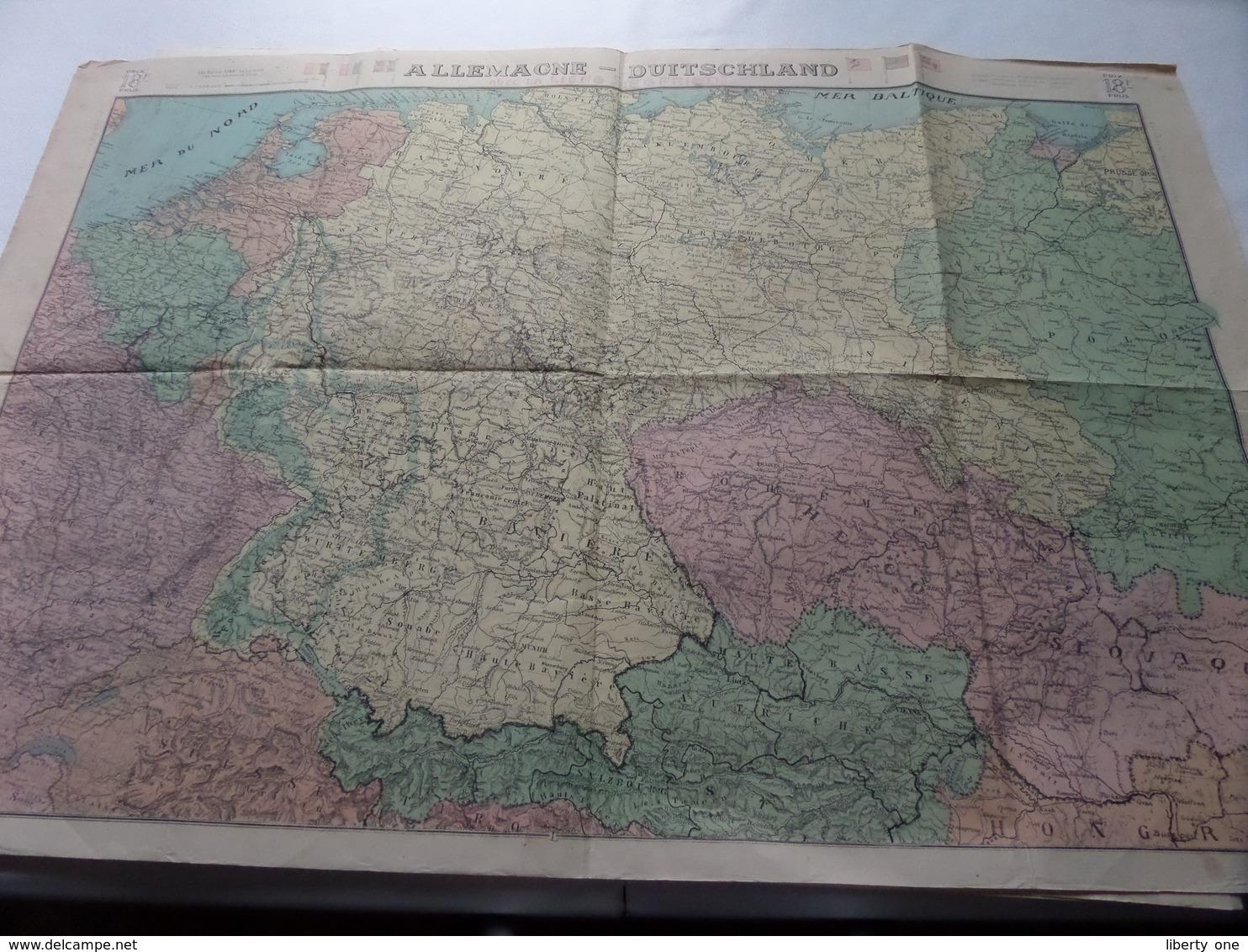 ALLEMAGNE - DUITSCHLAND Schaal / Echelle / Scale 1/15.00.000 ( Edit STAR Liège ) - ( Voir / Zie Photo) - Mapas Geográficas