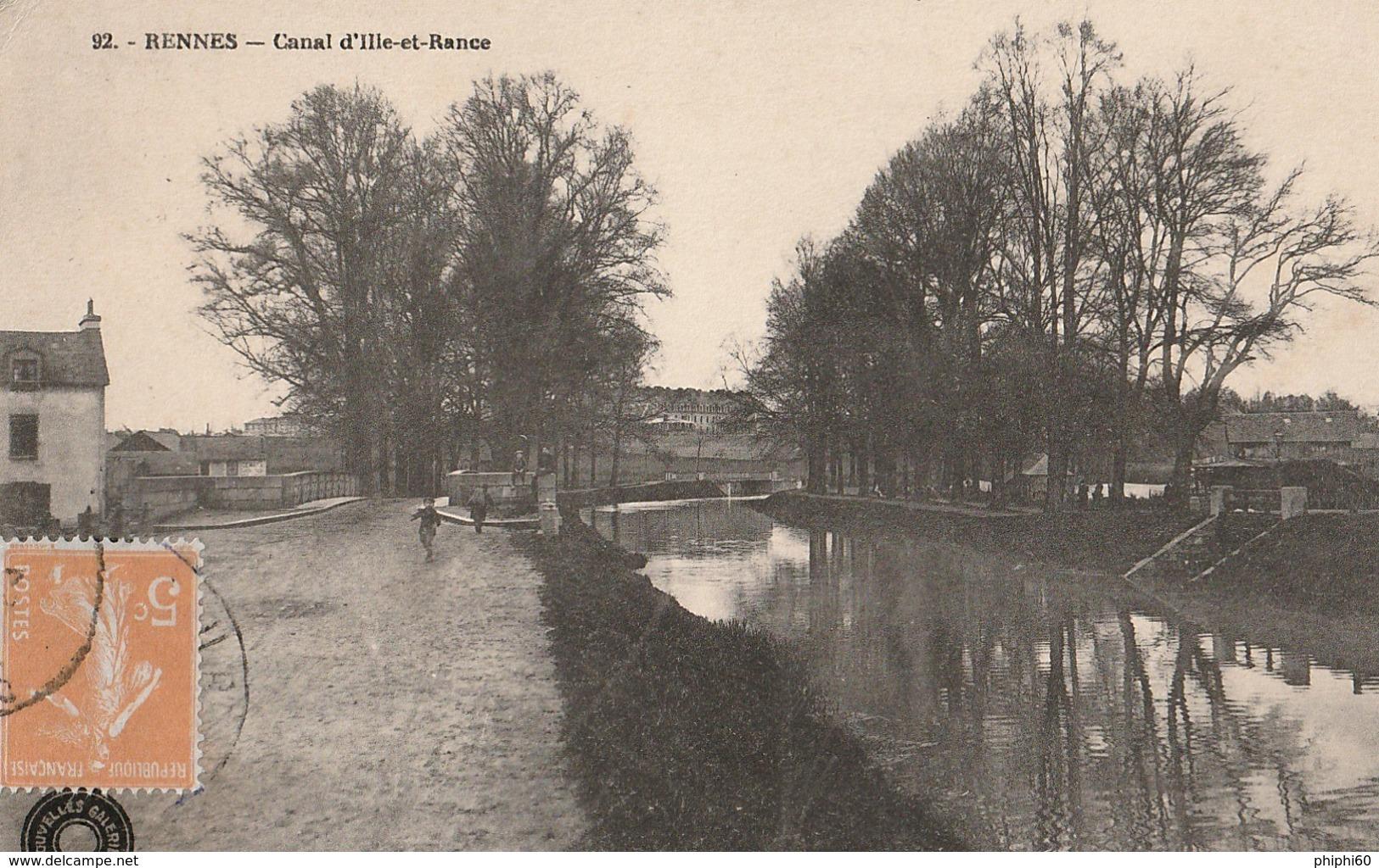 RENNES  -  35  -  Canal D'Ille-et-Rance - Rennes