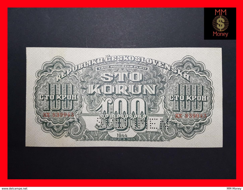 CZECHOSLOVAKIA  100 Korun 1944  P. 48 S  SPECIMEN AU\UNC - Tchécoslovaquie