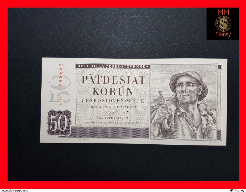 CZECHOSLOVAKIA  50 Korun 29.8.1950 P. 71b  UNC - Tchécoslovaquie