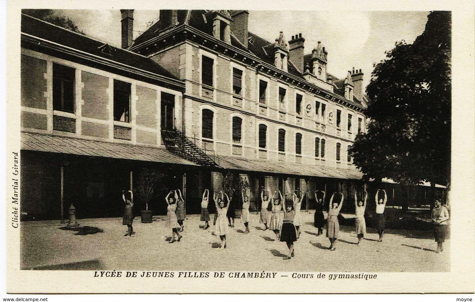 4775  - Savoie - CHAMBERY :  LYCEE DE JEUNES FILLES - COURS DE GYMNASTIQUE  Jules Ferry   Disparu ?? - Chambery