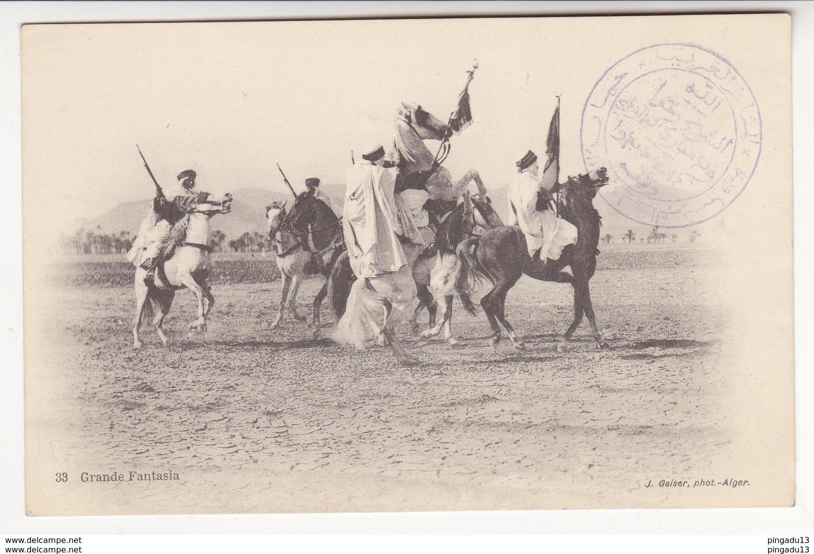 Au Plus Rapide Debdou Maroc Oriental 30 Janvier 1915 Sceau D'un Caïd Dépossédé Grande Fantasia Geiser Alger - War 1914-18