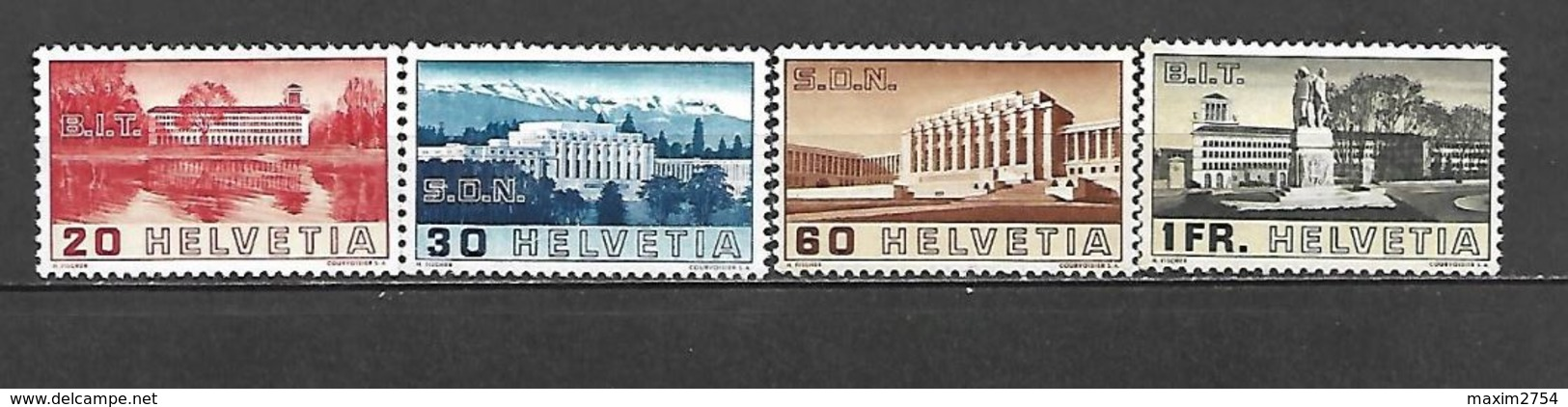 1938 - N. 307/10** (CATALOGO UNIFICATO) - Svizzera