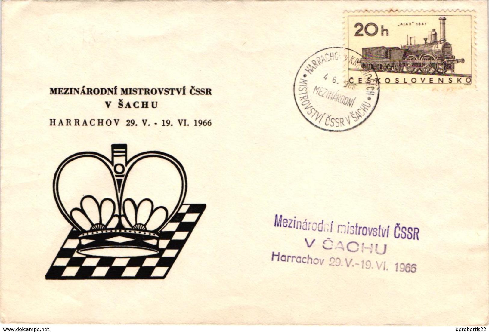 Chess Schach Echecs Ajedrez - Czechoslovakia. Harrachov 1966 International Tournament - Souvenir Cover CKM 143 - Scacchi
