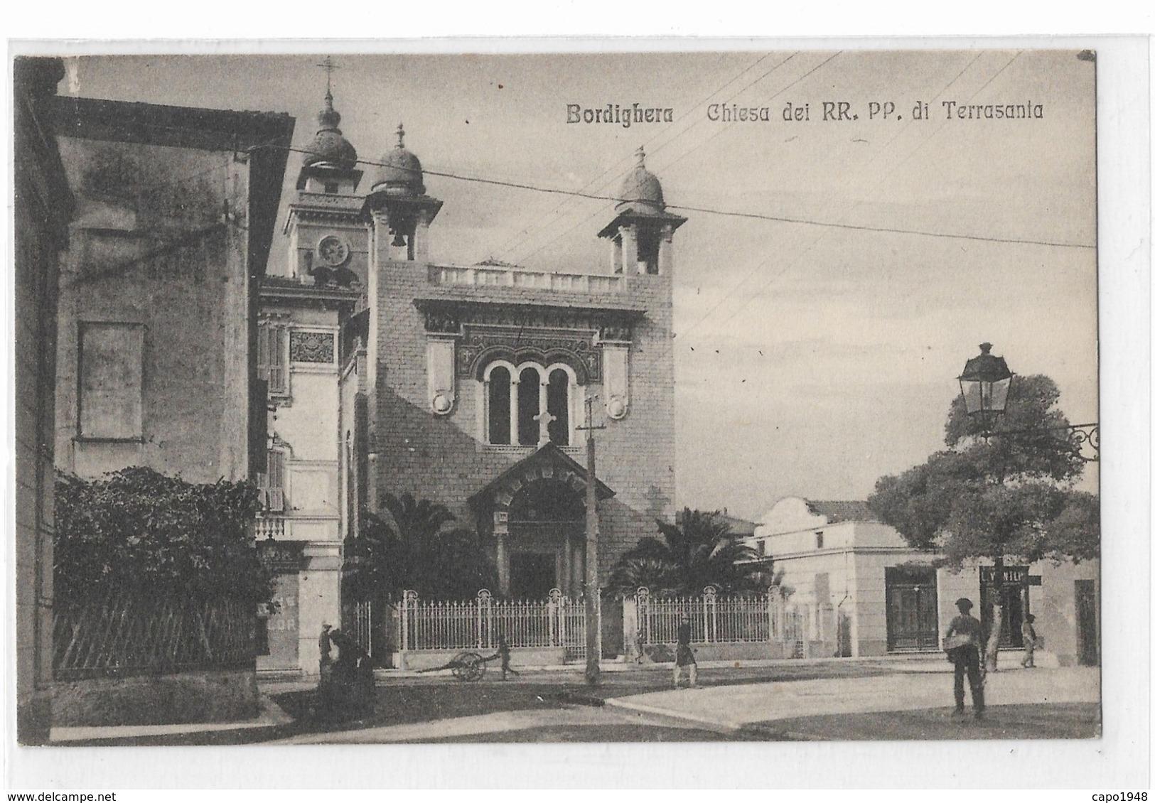 CARD  BORDIGHERA  CHIESA DEI RR.PP.DI TERRASANTA    (IMPERIA)-FP-N -2-   0882-28508 - Imperia