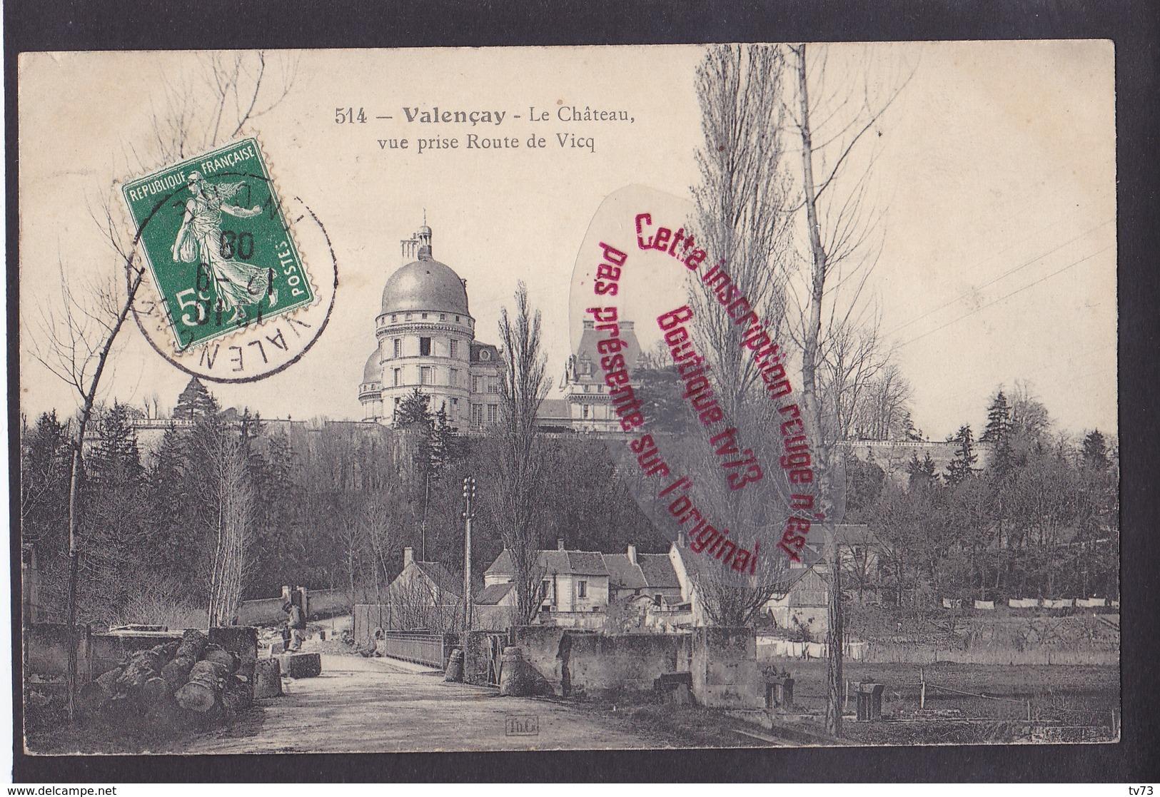Q0220 - VALENCAY Le Chateau - Vue Prise Route De Vicq - Indre - Francia