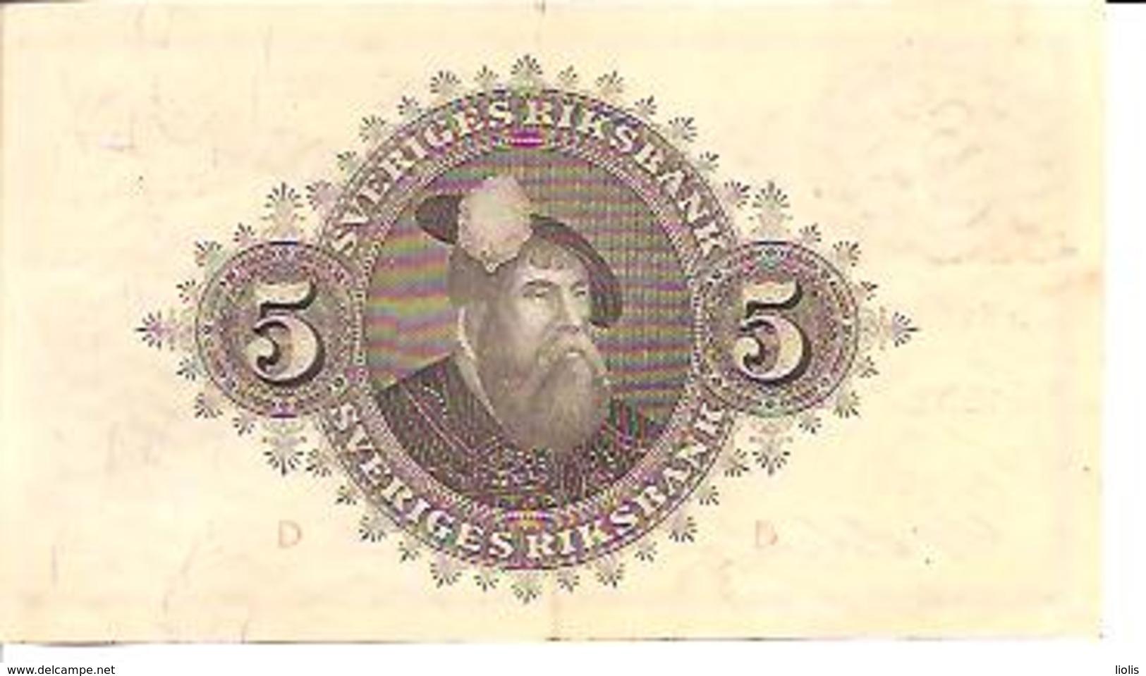 Sweden  5 Kronor  1952 - Suède