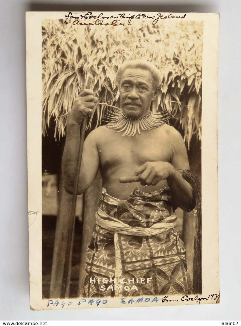 C.P.A. : SAMOA : High Chief, Stamp Fiji In 1932 - Samoa