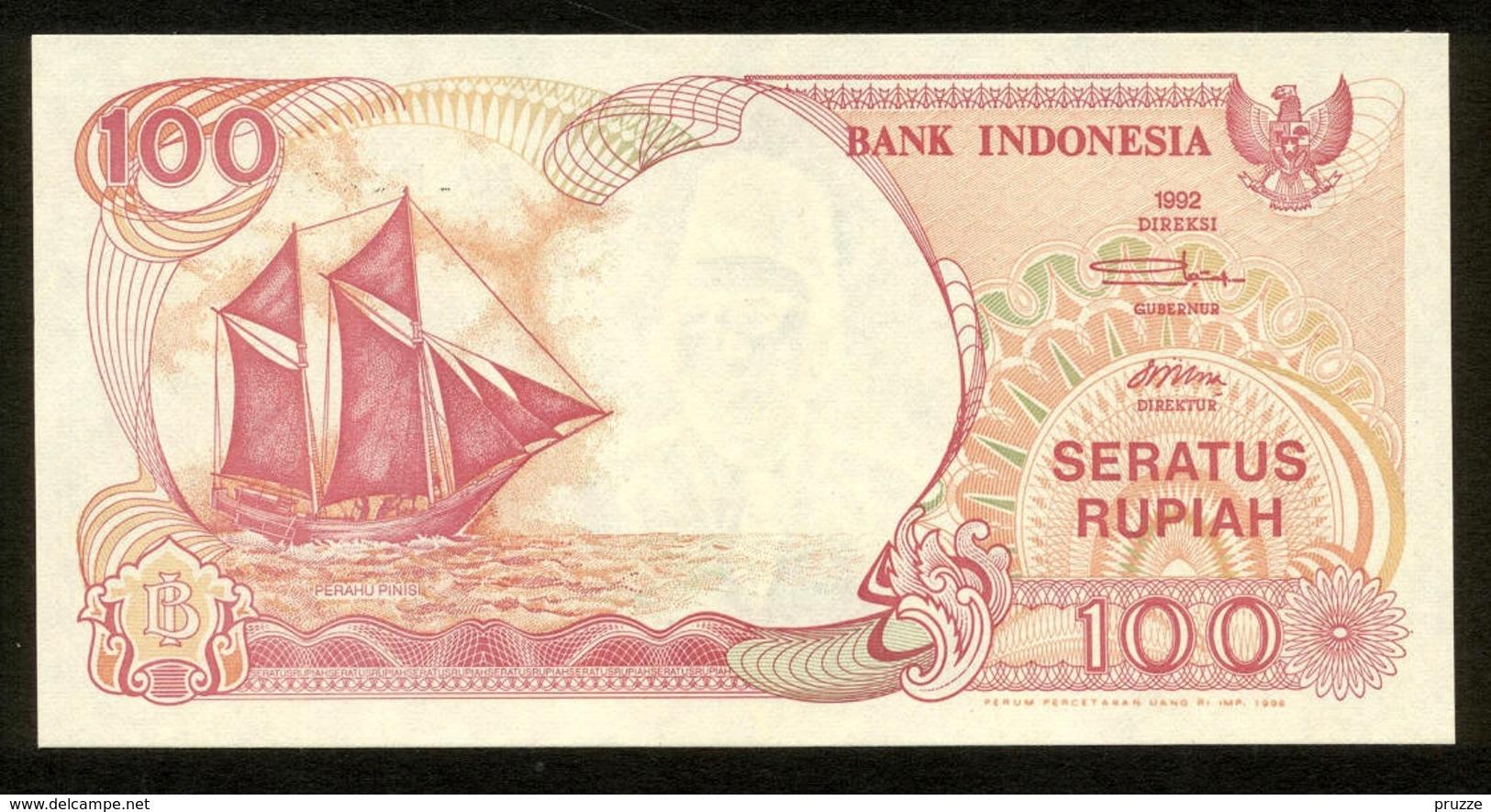 Indonesien 1992, 100 Rupiah - UNC, Kassenfrisch - Indonésie