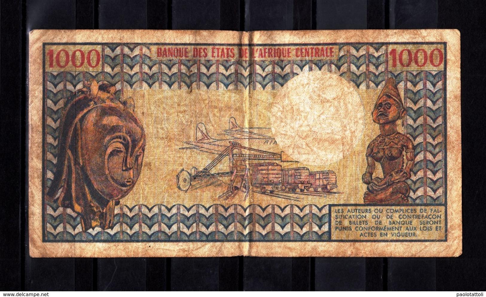 Cameroun,- 1000 Francs. Banque De Etats De L'Afrique Centrale. RECTO O3 - Cameroun