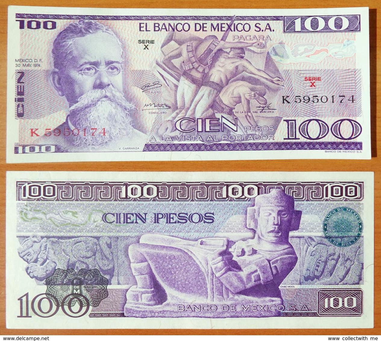 Mexico 100 Peso 1974 UNC - Mexique