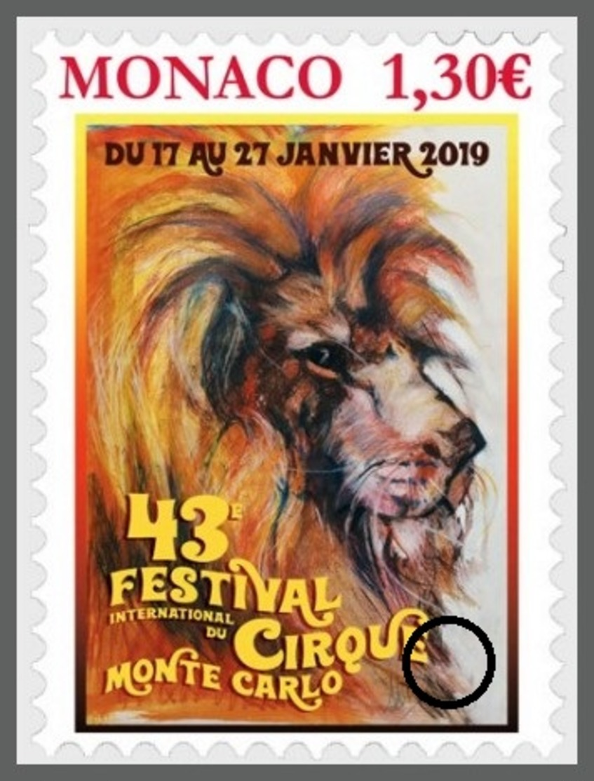 H01 Monaco 2019 Federation Mondiale Du Cirque CTO - Monaco