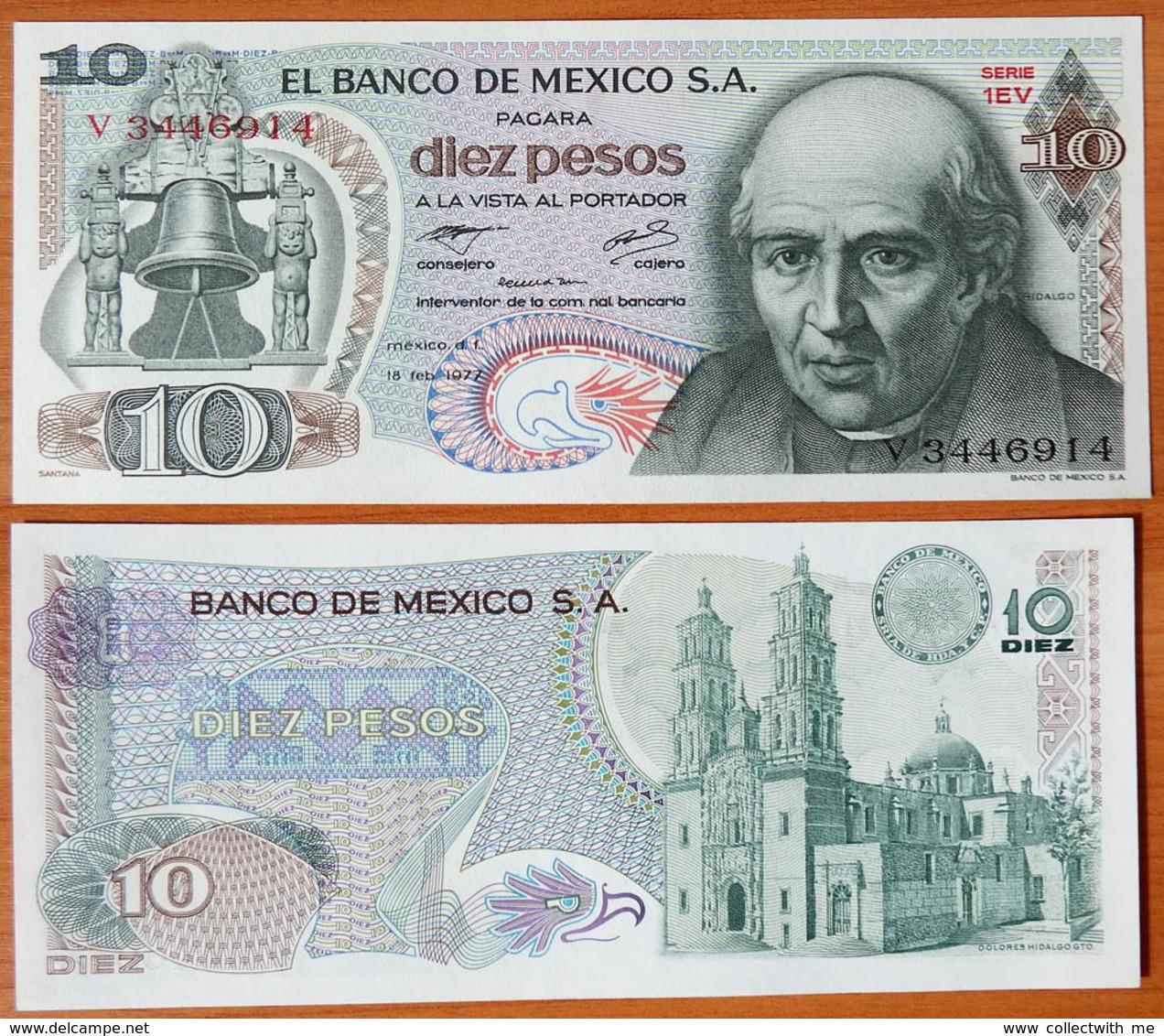 Mexico 10 Pesos 1977 UNC P-63i - Mexique