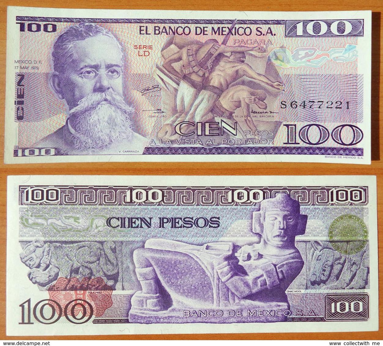 Mexico 100 Peso 1979 UNC Serie LD - Mexique