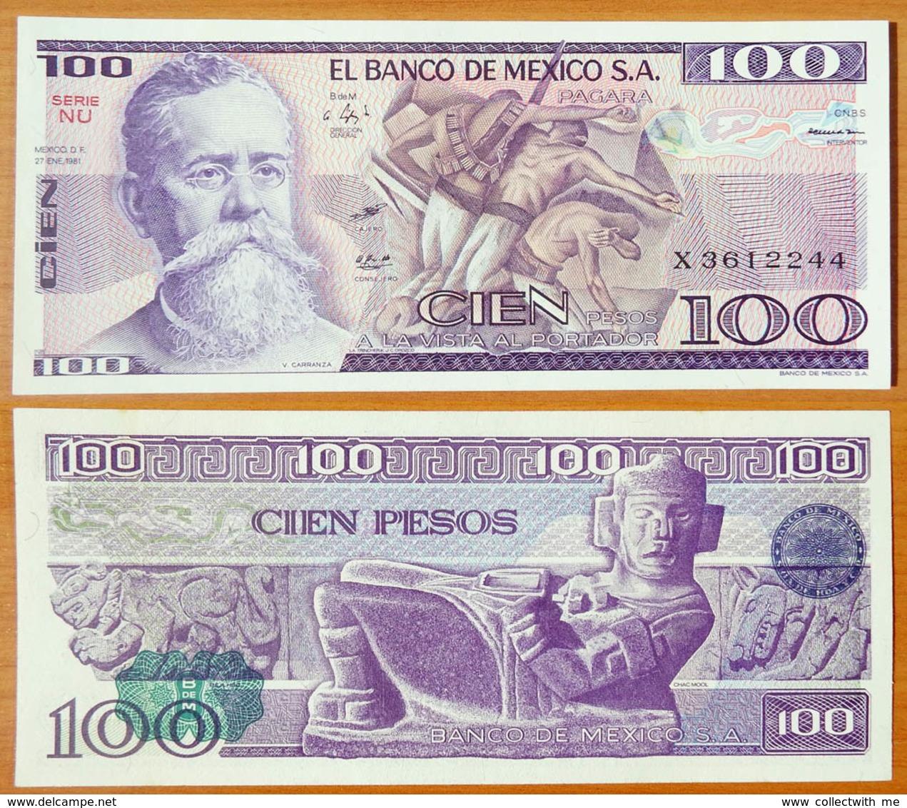 Mexico 100 Peso 1981 UNC P-74a - Mexique