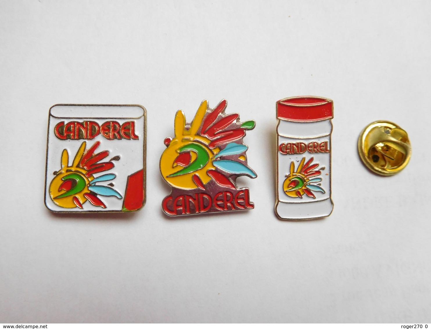 Belle Série De 3 Pin's Différents  , Sucre Canderel , édulcorant , Aspartame - Food