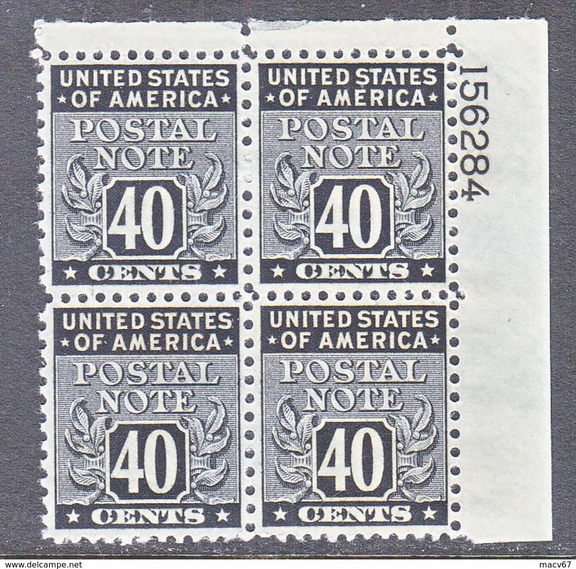 U.S. POSTAL  NOTE  PN 13  ** - Revenues