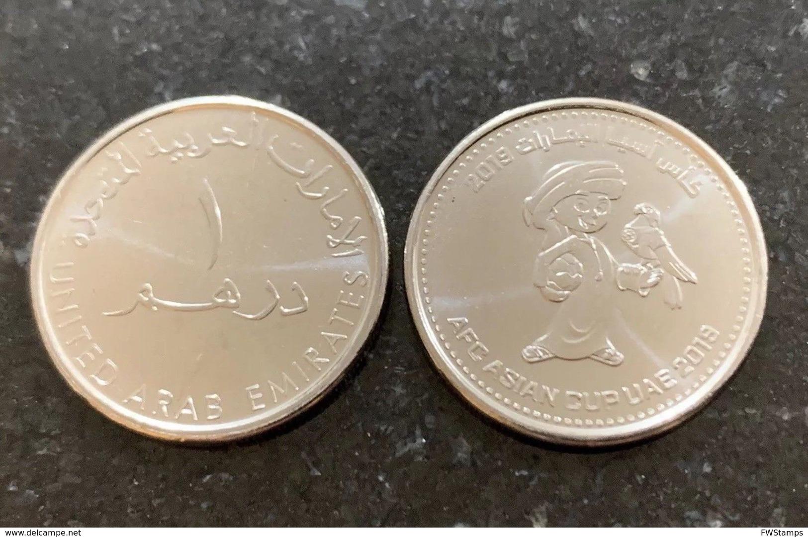 UAE 1 Dirham Coin Commemorative 2019 Asian Football Cup UNC - Emirats Arabes Unis