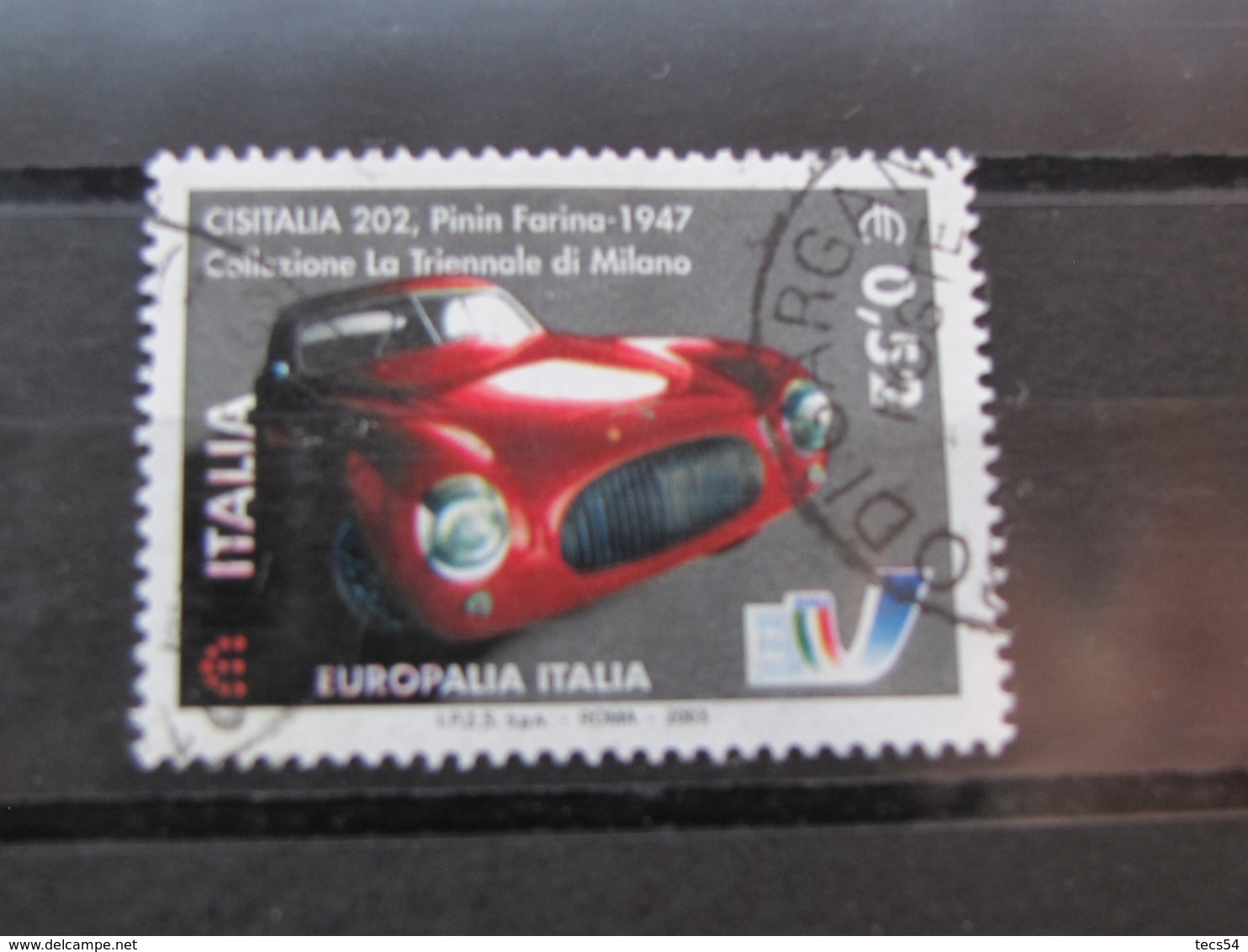 *ITALIA* USATI 2003 - EUROPALIA 2003 CISITALIA 202 - SASSONE 2707 - LUSSO/FIOR DI STAMPA - 6. 1946-.. Repubblica