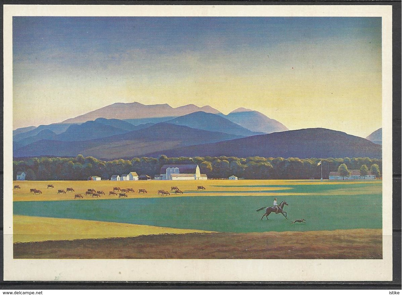 USSR, Moscow, Pushkin Museum, Rockwell Kent, Meadows And Mountains, 1981. - Pintura & Cuadros