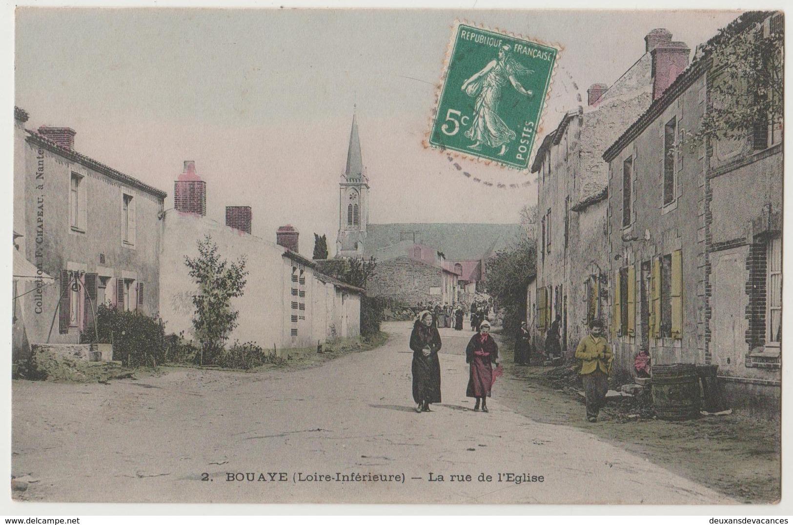 CPA 44 BOUAYE La Rue De L' Eglise - Bouaye