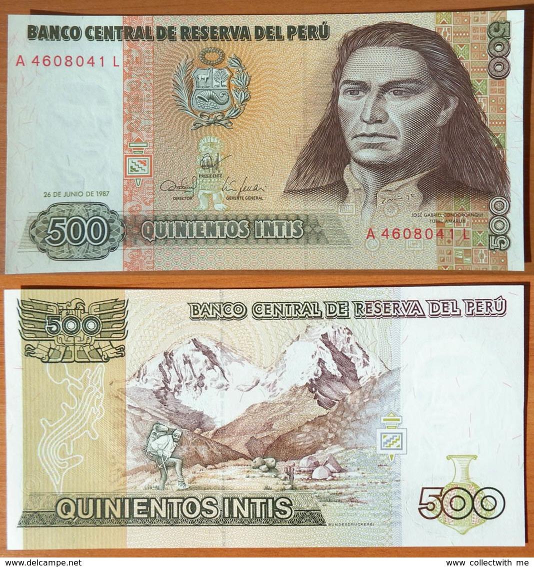 Peru 500 Intis 1987 UNC - Pérou
