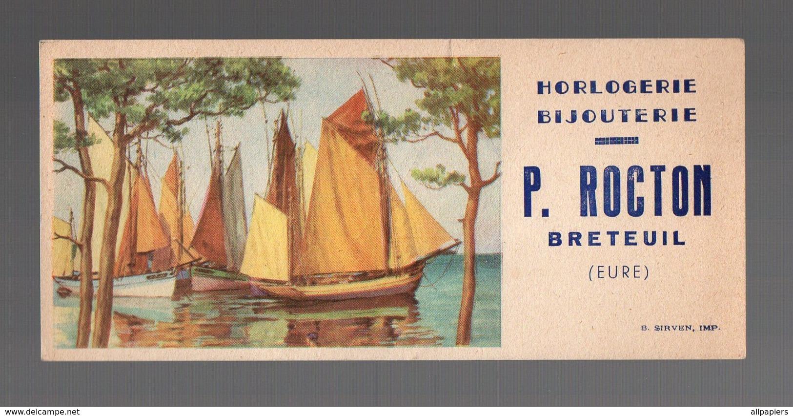 Buvard Horlogerie - Bijouterie P. Rocton Breteuil - Buvards, Protège-cahiers Illustrés