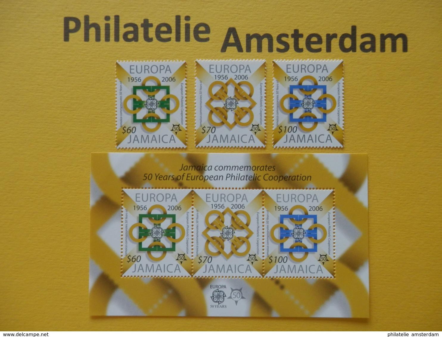 Jamaica 2005, 50 YEARS EUROPA CEPT 1956-2006, Mi 1081-83, + Bl. 56, ** - 2006