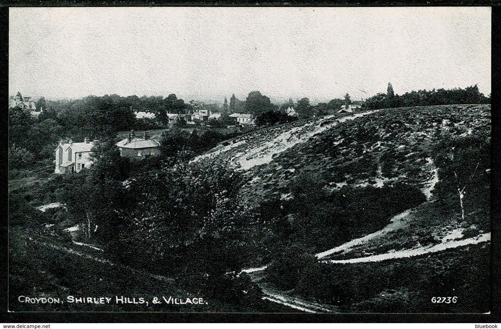 Ref 1258 - Early Postcard - Shirley Hills & Village - Croydon Surrey - Surrey