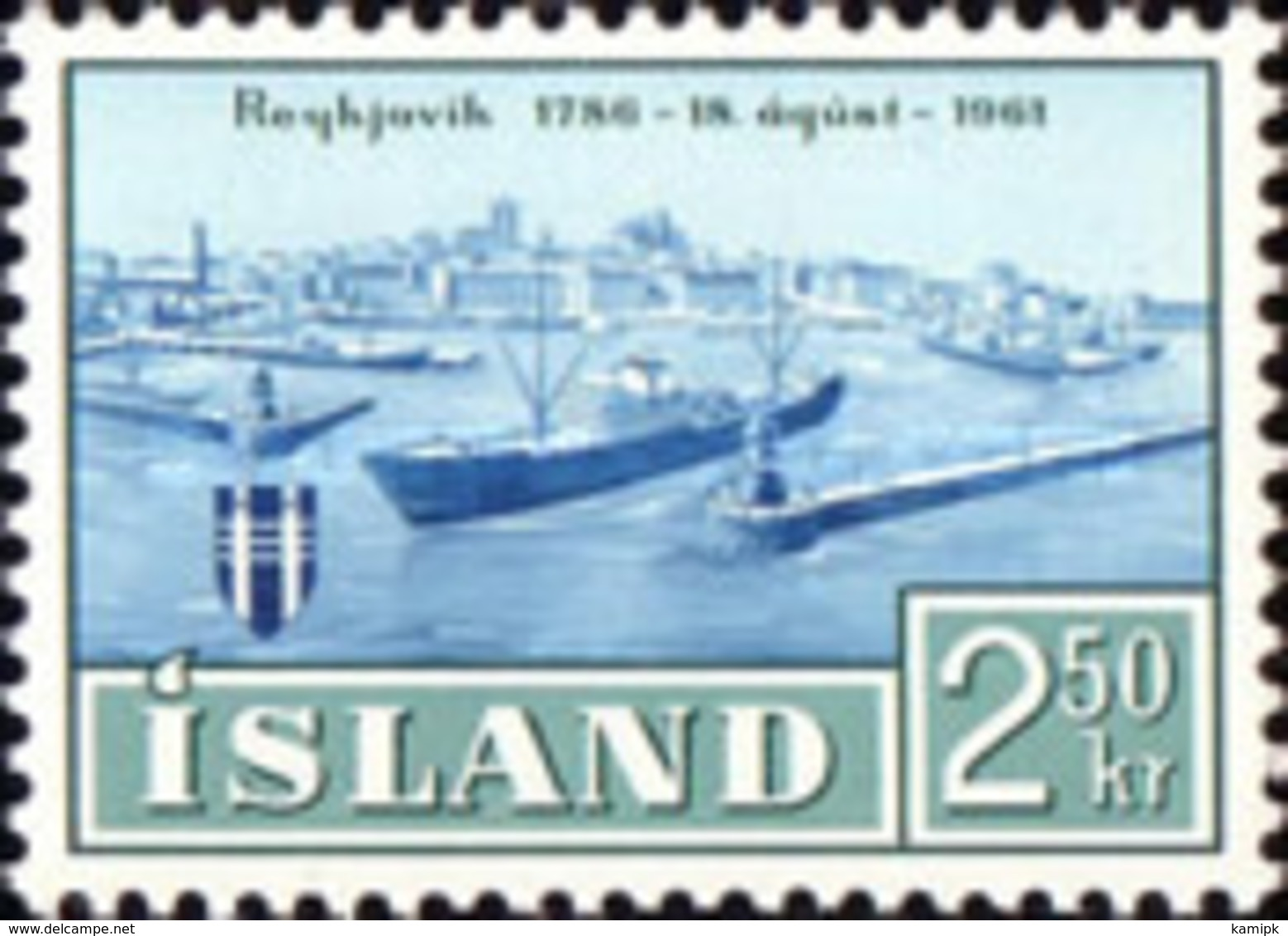 USED STAMPS Iceland - The 175th Anniversary Of Reykjavik - 1961 - 1944-... Republik