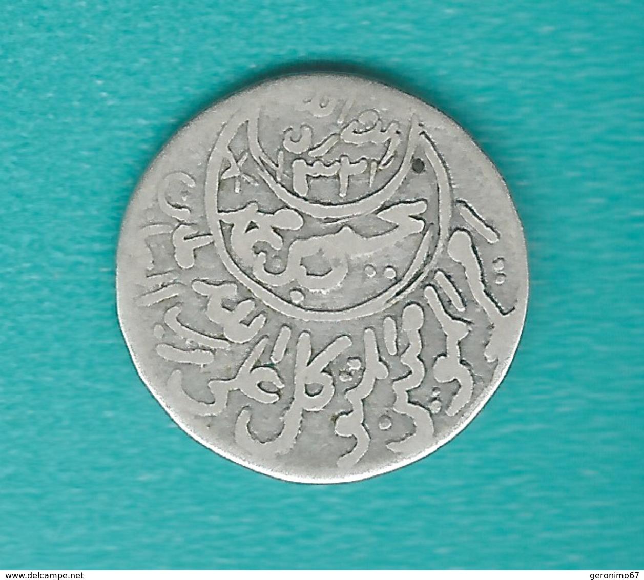 Yemen - Mutawakkilite - Imam Yahya - 1/10 Imadi Riyal - AH1337 (1918) - C. 2grs - KMY5.1 - Yémen